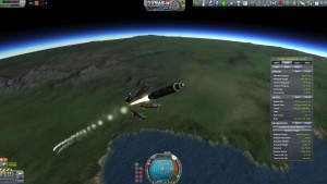 Kerbol Explorer Refueller booster separation