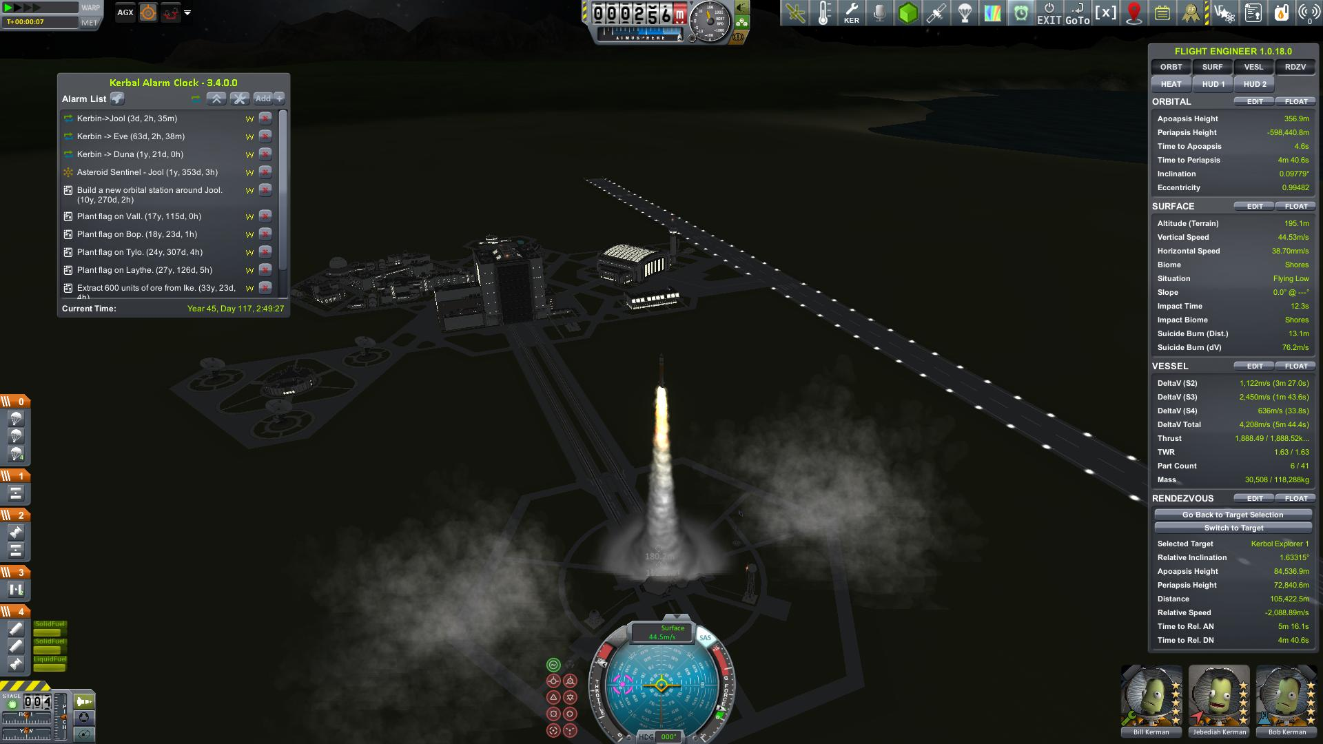 Jool Crew Launch nighttime