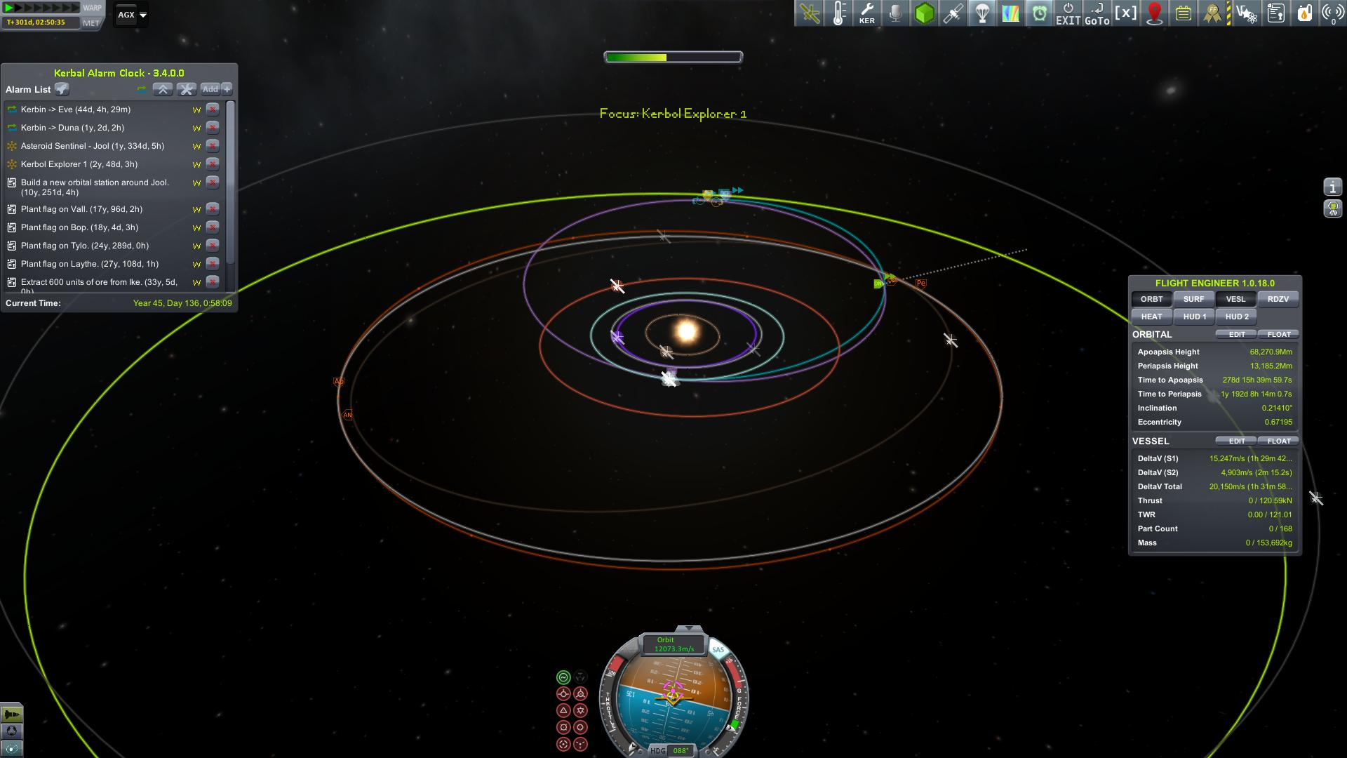 Jool Explorer Transfer Orbit